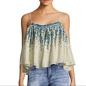 New Free People Women's Cotton Flounce Crop Top
